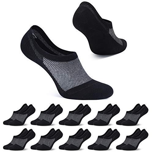FALARY Füßlinge Damen 39-42 Schwarz Kurze Socken Füsslinge 10 Paar Sneaker Socken Herren Unsichtbar No Show socks Sneakersocken