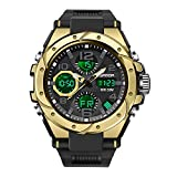 KXAITO Men's Watches Sports Outdoor Waterproof Military Watch Date Multi Function Tactics LED Alarm Stopwatch (18_Solar_Plus)