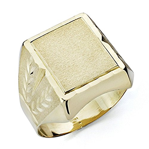 Sello oro 18k caballero tallado hueco [7536GR] - Personalizable - GRABACIÓN INCLUIDA EN EL PRECIO