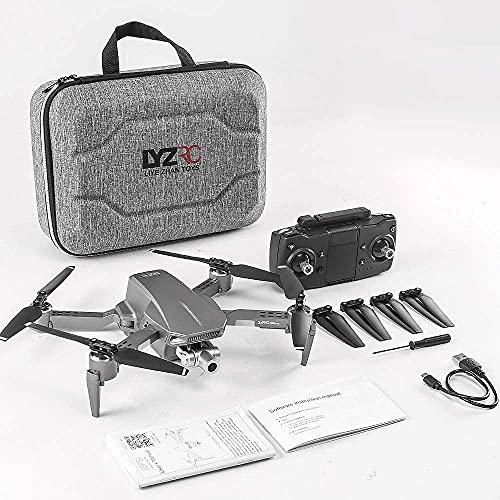 DCLINA Drone con Fotocamera per Adulti 2K UHD GPS Ritorno Automatico 5GHz FPV Quadcopter Follow Me Waypoint Circle Fly Flusso Ottico modalità Senza Testa per 40 Minuti e Custodia per Il Trasporto