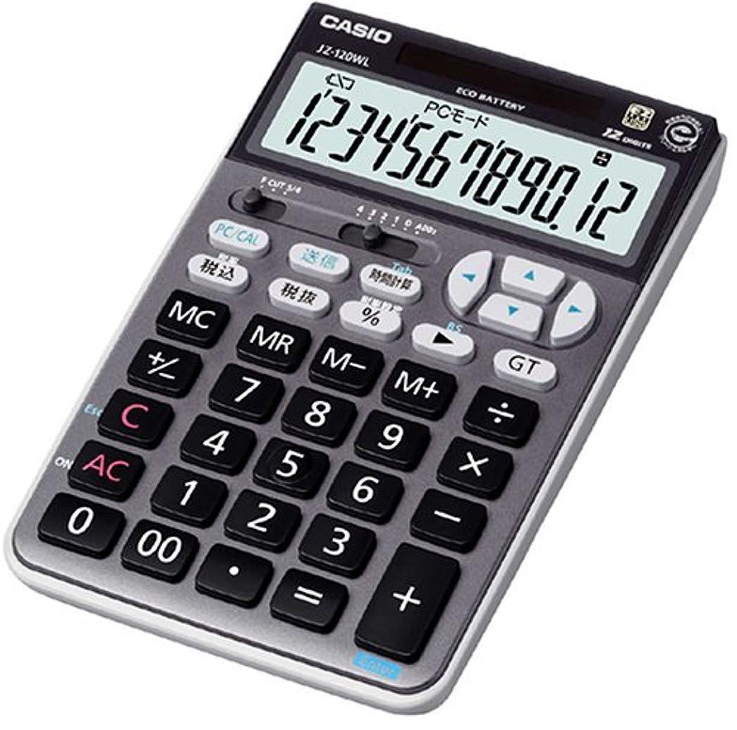 事件、出来事実験優雅カシオ テンキー電卓 ジャストタイプ 12桁 JZ-120WL-BK-N ブラック