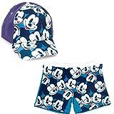 Bañador Mickey Mouse Tipo Bóxer para Playa o Piscina +Gorra Disney Mickey Mouse para niños (6 años, Modelo 2)