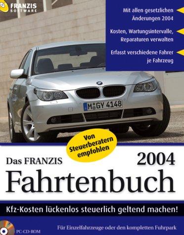 Das Franzis Fahrtenbuch 2004, CD-ROM Kfz-Kosten lückenlos steuerlich geltend machen. Für Einzelfahrzeuge oder den kompletten Fuhrpark. Mit allen gesetzlichen Änderungen 2004. Kosten, Wartungsintervalle, Reparaturen verwalten. Erfasst versch