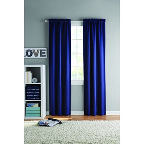 Your Zone Room Darkening Panel Pair Navy 60x84 Blue