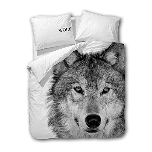 Traumschlaf Wendebettwäsche Wolf 1 Bettbezug 135x200 cm + 1 Kissenbezug 80x80 cm