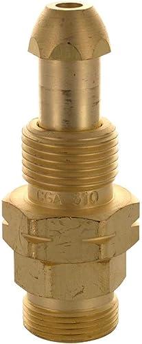 "lowest Western Enterprises 315 Brass Cylinder Adaptors, from CGA-510 POL Acetylene to discount CGA-520""B"" 2021 Tank sale"