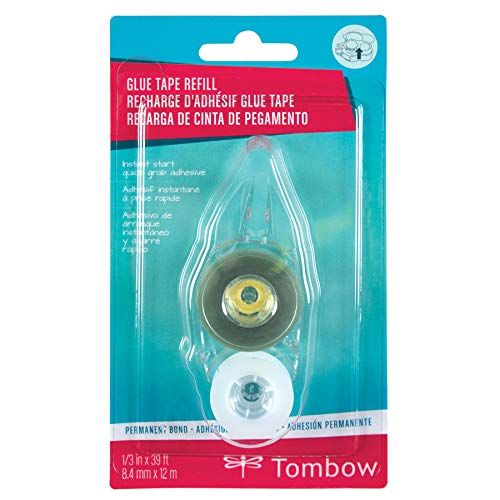 Tombow 62166 MONO Adhesive + Permanent Refill, 1-Pack. Easy to Use Refills for Strong, Permanent Bond