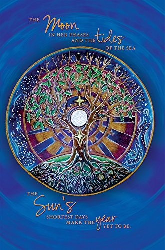 """Tree-Free Greetings EcoNotes 12-Count Winter Solstice Card Set with Envelopes, 4"""" x 6"""", Mandala (93480)"""