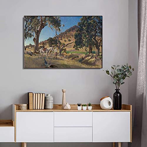SADHAF Canvas Print Frans Beroemd Olieverfschilderij Muurschildering Foto Landschap Poster Kamer Home Art Decoration A2 40x50cm