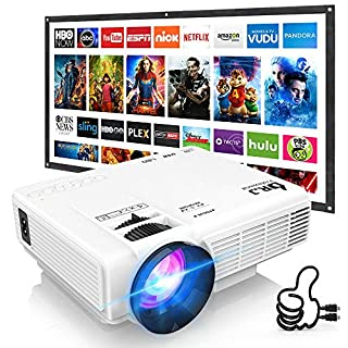 DR. J Professional HI-04 Mini Projector Outdoor Movie Projector with 100Inch Projector Screen, 1080P Supported Compatible with TV Stick, Video Games, HDMI,USB,TF,VGA,AUX,AV [Latest Upgrade] (B07174LM85) | Amazon price tracker / tracking, Amazon price history charts, Amazon price watches, Amazon price drop alerts