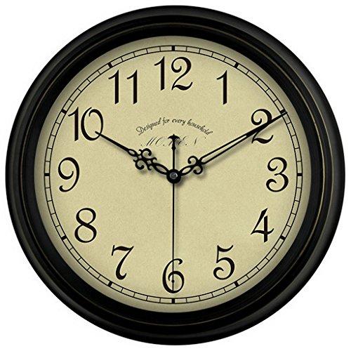 Style européen horloge murale muet ancien salon de poche montre rétro horloge murale horloge de chambre (Couleur : 1#, taille : 40 cm)