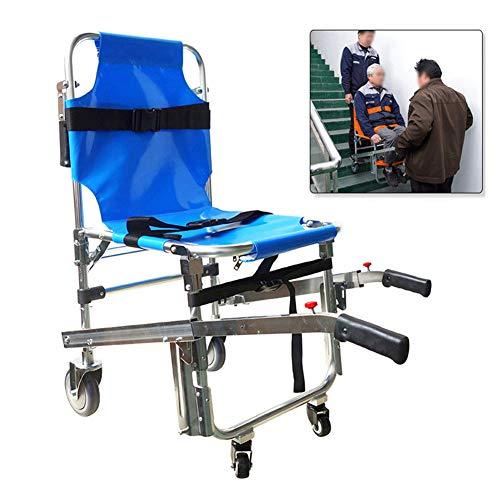 Dbtxwd Treppenstuhl aus Aluminiumlegierung, Rettungsbahre, einziehbarer Griff, medizinische Mobilitätshilfe