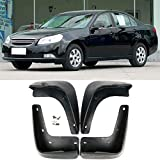 ESUHUANG Mud Flaps coche Set 4 piezas de vehículos Guardabarros Guardabarros Guardabarros delantero y trasero suave ABS Mudflaps for Chevrolet Epica Holden 2006-2011