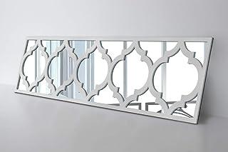 comprar comparacion HomeArtDecor | Capa Sobrepuesta Trellis | Adecuado para IKEA Malm | 80 x 20 cm | Color: Blanco y Espejo | Decoración de Mu...