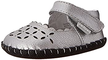 pediped Katelyn Originals Mary Jane  Infant/Toddler ,Silver,Small  6-12 Months