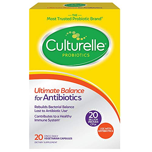 Culturelle Ultimate Balance Probiotic for Antibiotics | Use with Antibiotics | Once per Day | Contains 100% Lactobacillus rhamnosus GG | Restores Good Bacteria Lost to Antibiotic Use* | 20 Count