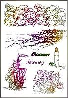海の波透明なクリアシリコーンスタンプ/シールDIYスクラップブッキング/フォトアルバム装飾的なクリアスタンプシート