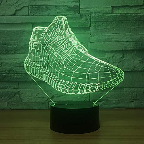 Zhoudd 3D lampe Spielzeug Nachtlicht 7 Farbwechsel Touch Switch Acryl Flat USB Spielzeug Lampen perfekte Weihnachts geschenk Laufschuhe