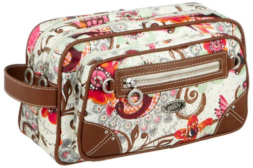 Oilily Summer Birds Pocket Cosmetic Bag Off white OCB9114-0201, Damen Kosmetiktasche, weiss, (201), 28x11x16.5