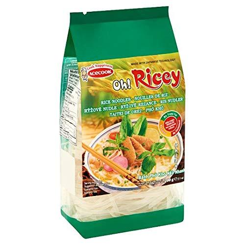 Acecook- Noodles de Arroz- Ideales para Un Buen Pad Thai - Sin Gluten- 200 Gramos