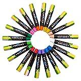 Kalaokei Farbstifte Für Kinder Malbücher Zeichnen Malbücher 20Pcs Wasserlösliche Staubfreie Zeichnung Kunst Bunte Kreide Kreide Schulbedarf Mehrfarbig