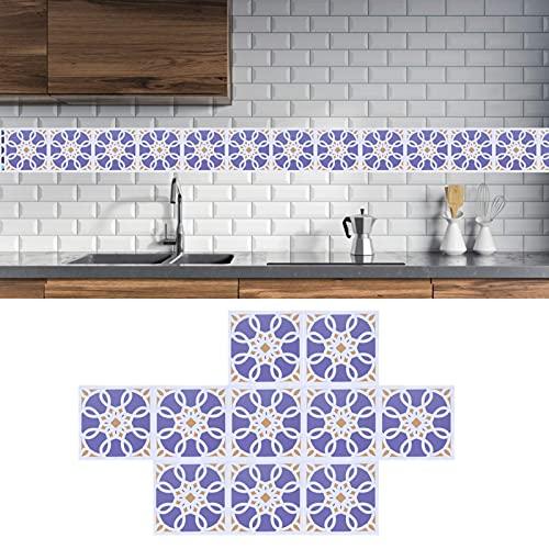 Pasta de pared de baldosas de cerámica, delicada pegatina para baldosas de colores resistentes a prueba de aceite con buena densidad para comedor y baño(4)