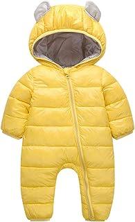 Fairy Baby Baby Unisex Winter Romper Outfit Kids Hood Snowsuit Puffer Onesie Outwear
