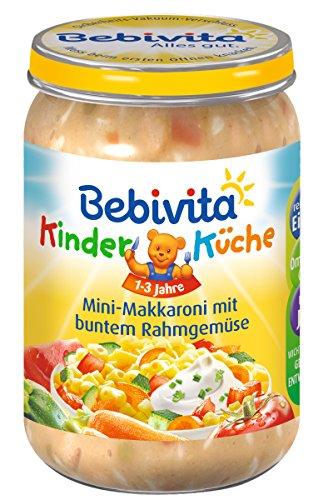 Bebivita Mini-Makkaroni mit buntem Rahmgemüse, 6er Pack (6 x 250 g)