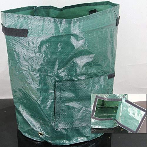 LMIAOM 30x40cm Sembradora de patatas de plástico Crecer bolsa Crecer Cultivo Colgante vertical Abrir Plantación de verduras Accesorios de hardware Herramientas de bricolaje