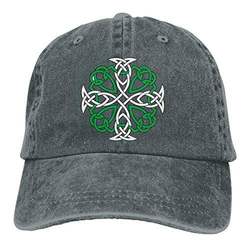 Men Women Celtic Cross Baseball Cap Denim Dad Hat Trucker's Cap