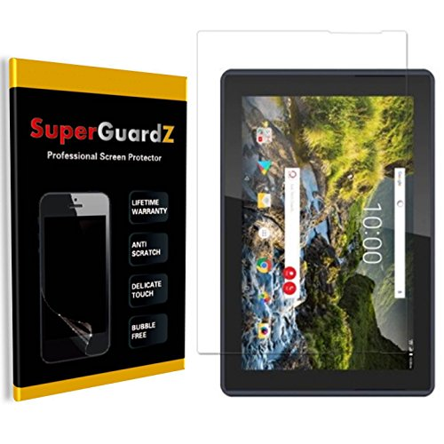 [3-Pack] Verizon Ellipsis 10 HD (2017) [NOT for Ellipsis 10 (2016 Version)] Screen Protector - SuperGuardZ, Ultra Clear, Anti-Scratch, Anti-Bubble [Lifetime Replacement]