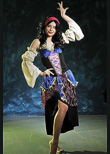 Delights Damen Esmerelda Style Dark Zigeuner-Kostüm