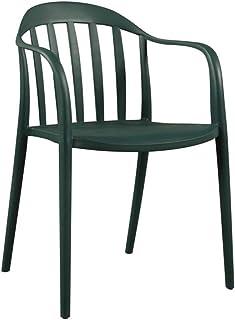 ZONS - Juego de 2 sillas Zion de polipropileno apilable - Exterior o Interior
