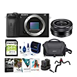 Sony Alpha a6600 APS-C Mirrorless ILC Bundle with 16-50mm Lens (8 Items)