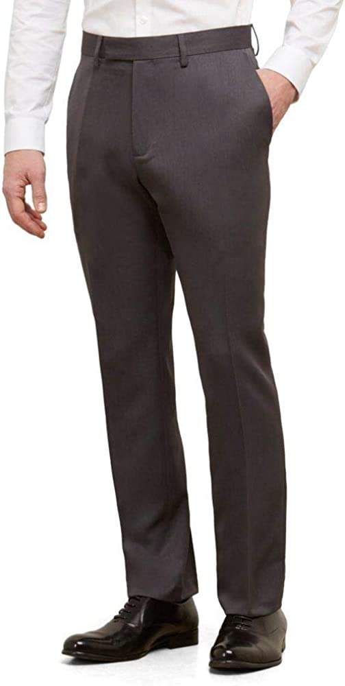 Kenneth Cole Reaction Men's Urban Heather Slim-Fit Flat-Front Dress Pant