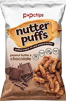 Popchips Nutter Puffs Peanut Butter & Chocolate 4 Ounce