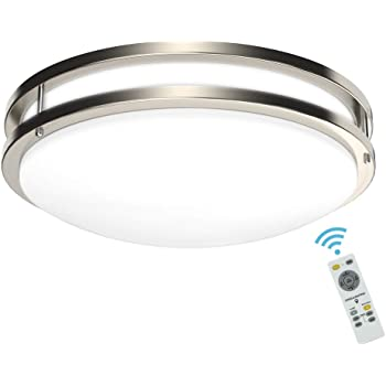 Winplus Lm56123 6 Control Motion Activated Led Ceiling Light With Remote White Amazon Com
