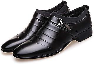 Dingziyue - Scarpe da uomo a punta, da uomo, con piedi a punta, scarpe da abito, basse maree (colore: nero, taglia: 46)