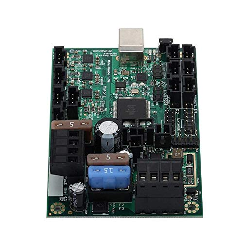 LiangDa 3D-Drucker-Motherboard for Prusa i3 MK2 3D-Drucker Mini-Rambo 1.3 Mainboard integrierte Controller Board + 4pcs Heatsinks (Color : Blue, Size : One Size)
