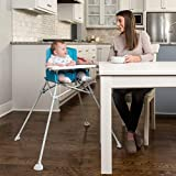 Regalo My High Chair Portable Travel Fold & Go Highchair, Indoor and Outdoor, Bonus Kit, Includes Travel Case and Tray with Cup Holder, Aqua/Turquoise
