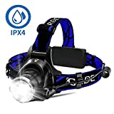 Headlamp, Super Bright LED Headlamps 18650 USB Rechargeable IPX4...
