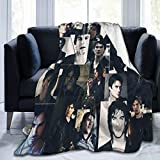 AIMOM The Vampire Diaries Blanket Soft Cozy Throw Blanket Ian Somerhalder Blankets for Couch Bed Living Room 40 X 50 Inch