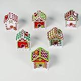 Happyyami Mini noël Suspendus Maison noël Arbre Pendentif décoration pour la Maison Jardin Magasin