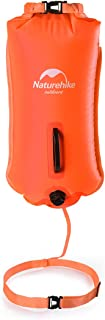 Naturehike 28L High Visible Safety Swim Buoy - Ultralight Bubble Tow Float and Dry Bag for Open Water Swimming Kayaking Snorkeling Diving Fishing Trailing Stand Up Paddling with Adjustable Waist Belt
