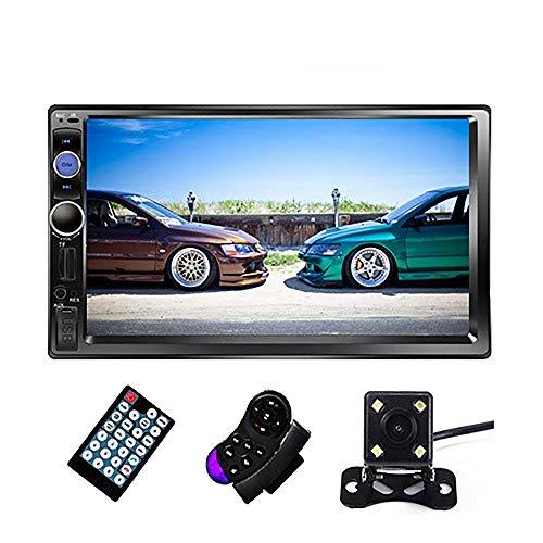 Mackur Autoradio 7' Bluetooth Stereo MP5 della Radio di Tocco MP3 Multimedia Player Auto Auto Radio Supporto Telecamera Posteriore (Color : 7023B 4 LED Camera)