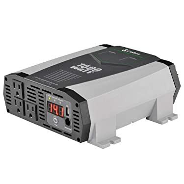Cobra CPI1590 Portable Power Inverter – 1500 Watt Car Charger, 2 Grounded AC Outlets, 12 Volt 2.4 Amp USB Port, Survival Gear, Camping Accessories, Travel Essentials