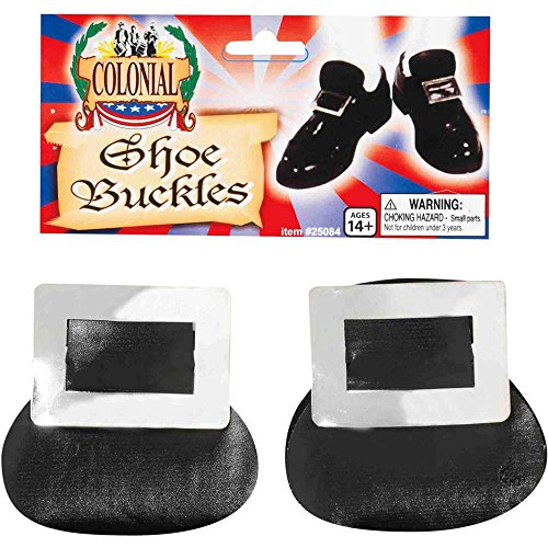 Forum Novelties Silver Colonial Shoe Buckles - One Size