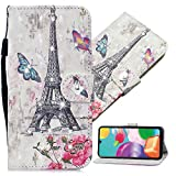 QIVSTARS Case for Samsung Galaxy S8 Plus Soft Leather 3D Bling Diamond Case for Woman Scratchproof PU Card Strorage Case Full Body Protective Wallet Case for Samsung Galaxy S8 Plus Eiffel Tower CY