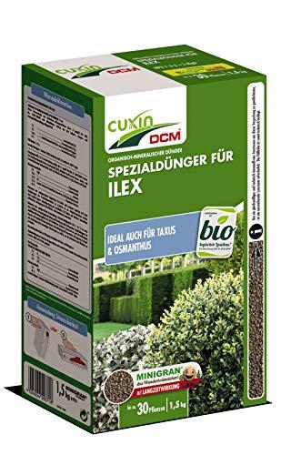 Cuxin Spezialdünger für Ilex NPK-Dünger 7-3-6 +2 MgO, auch Ideal für Taxus & Osmanthus, 1,5 kg