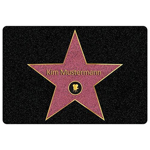 Geschenke 24 Personalisierte Fußmatte Walk of Fame mit Namen - Fußmatte innen, Fußmatte außen - Geschenke für Männer, Frauen und Paare mit Name personalisiert Muttertag Vatertag